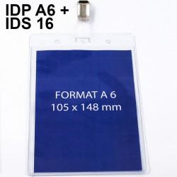 Porte-Badge Événementiel A6 + IDS 16 monté