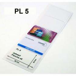 Pochette Adhesive planche de 5