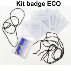 Kit Badge ECO 10PB 86x54 et 10 Lacets