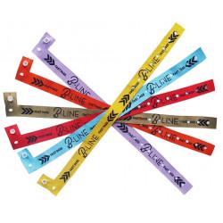 """Bracelet Textil'pass """"L"""" tissé sécurisé usage unique bouton"""