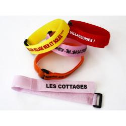 Bracelet Aquapass Velcro 20 mm personnalisé