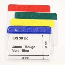 Porte badge souple bandeau couleur