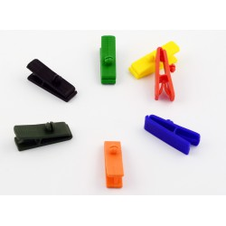 clip plastique assortiment de coloris
