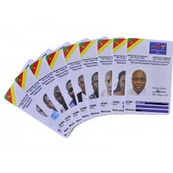 Credit card format PVS cards